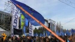 În direct de la mitingul în sprijinul integrării europene