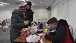 Алматинцы собрали помощь пострадавшим в Бишкеке