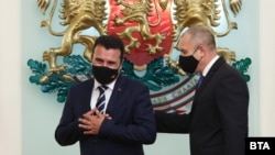 Софија- Македонскиот премиер Зоран Заев и бугарскиот претседател Румен Радев,17.06.2021
