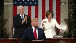 Трамп со пофалби, Пелоси го скина неговиот говор