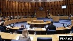 Kvorum neophodan za odlučivanje u Domu naroda čini devet delegata (na fotografiji: sjednica Doma naroda, 27. april 2021.)