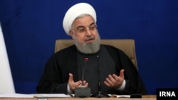 """Iran-- President Hassan Rouhani speaks in the meeting of """"Principle Rights and Rights of Citizens"""" on Monday, December 21, 2020."""