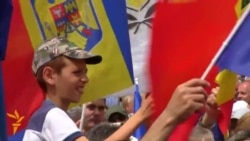 Moldovans Call For Union With Romania