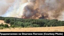 Илустрација- пожар во близината на Пехчево