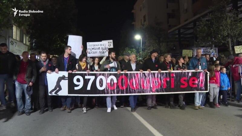 Peti građanski protest u Podgorici