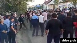 At least 12 people were injured in the fighting.