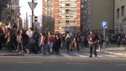 Protest učenika zbog uhapšenog školskog druga