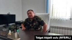 Максатбек Караев, Жалал-Абад шаарындагы №53 тергөө абагынын жетекчиси.