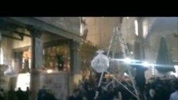 Հայ եւ հույն հոգեւորականների ծեծկռտուքից րոպեներ առաջ