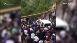 Потасовка с полицией в дагестанском селе