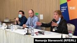 Sleva nadesno: Kosta Petrov, Mirko Stanić i Besima Boric