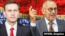 Алексей Навальный и Андрей Кончаловский, коллаж