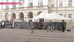 Костер перед Ратушей: как львовские военные выбивают у властей положенную им по закону землю