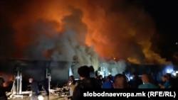 Пожарот во модуларната ковид болница во Тетово