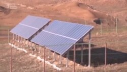 Qazaxıstanın kəndində Günəş elektrik stansiyası