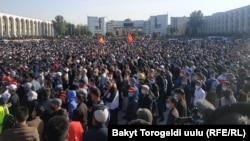 Митинг в Бишкеке. 5 октября 2020 года.