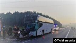 Автобус, в котором ехали паломники. Фото: УМВД по Владимирской области