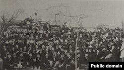 Participanții la congresul Partidului Social-Democrat din România, București, 31 ianuarie-2 februarie 1910.
