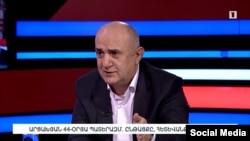 Бывший секретарь Совета безопасности Нагорного Карабаха Самвел Бабаян в эфире Общественной телекомпании, 18 апреля 2021 г.