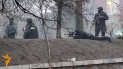 Ukrainian Special Forces Fire At Protesters In Kyiv