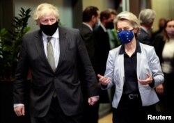 Безуспешные переговоры. Борис Джонсон и Урсула фон дер Ляйен в Брюсселе, 9 декабря 2020 года