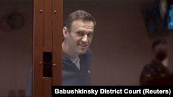 Aleksei Navalnîi la tribunal, Moscova, 12 februarie 2021