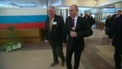 Putin voton në zgjedhjet presidenciale