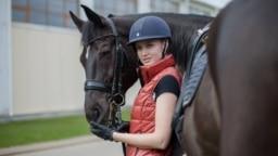 Ольга Сафронова и ее конь Сандро