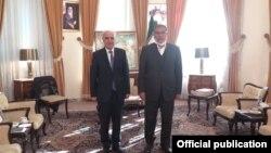Iran -- Ali Shamkhani (R), the secretary of Iran's Supreme National Security Council, meets with Armenian Ambassador Artashes Tumanian, Tehran, December 27, 2020.