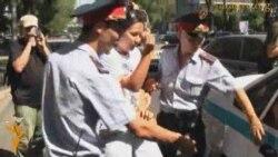 Kazakh Protesters Arrested