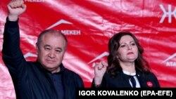 Өмүрбек Текебаев жана Наталья Никитенко