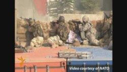 NATO Soldiers Fight Militants At Kabul Headquarters
