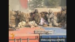 درگیری سربازان ناتو با شبه نظامیان در کابل