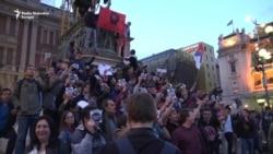 Protest u Beogradu zbog izbornih rezultata