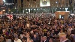Tbiliside müňlerçe adam hökümete garşy protest bildirdi