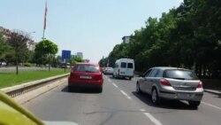 Колони автомобили во Скопје
