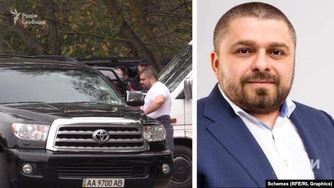 Чоловік у білій футболці, який, як зафіксували журналісти, сідав у Toyota Sequoia – Сергій Володимирович Коровченко