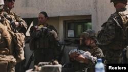 Военнослужащие США в аэропорту Кабула