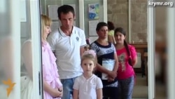 В Херсоне очередь людей, желающих попасть в Крым (видео)