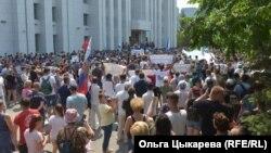 Акцыя ў Хабараўску 18 ліпеня