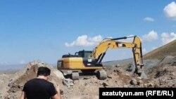 Строительство участка Талин-Гюмри автомагистрали Север-Юг возобновилось, сентябрь 2020 г.