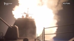 Pamje të sulmeve amerikane në Siri