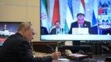 Президенти Русия Владимир Путин дар ҳамоиши Душанбе ба воситаи видеои бархат ширкат мекунад. 17 сентябри соли 2021
