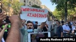 Tofiq Yaqublunun həbsinə etiraz aksiyası. Bakı. 9 sentyabr 2020