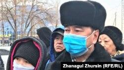 """""""Жолаушылар автокөлік кәсіпорны"""" басшысы міндетін атқарушы Есбол Сатаев. Ақтөбе, 12 ақпан 2021 жыл."""