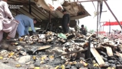 Blaze Destroys Fruit Market In Pakistan