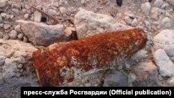 Найденный в Севастополе снаряд