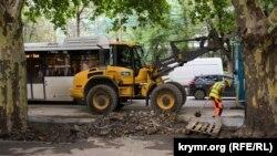 Город в строительных лесах: что ремонтируют и строят в центре Симферополя (фотогалерея)
