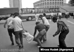 Mineriada din 13-15 iunie 1990/ Foto: Agerpres