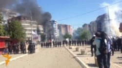 Kosovo Police Clash With Protesters At Mitrovica's Main Bridge